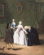 Pietro Longhi A Nobleman Kissing a Lady-s Hand oil painting picture wholesale
