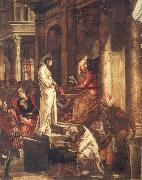 TINTORETTO, Jacopo Christ before Pilate oil painting picture wholesale