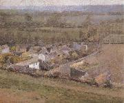Theodore Robinson Bird-s-Eye  View Giverny France oil painting picture wholesale