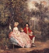 Thomas Gainsborough Conversation in a Park oil painting picture wholesale
