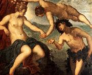 Tintoretto Ariadne, Venus and Bacchus oil painting artist