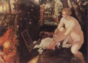 Tintoretto The Bathing Susama oil painting artist