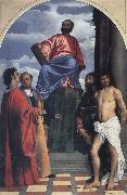 Titian St Mark with SS Cosmas,Damian,Roch and Sebastian oil painting picture wholesale