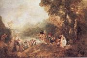 WATTEAU, Antoine The Pilgrimago to the Island of Cythera oil painting picture wholesale
