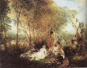 WATTEAU, Antoine A Love Festival oil painting picture wholesale