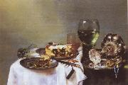Willem Claesz Heda Breakfast Talbe with Blackberry Pie oil painting picture wholesale