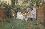 William Merrit Chase Fruhstuck im Freien oil painting picture wholesale