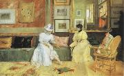 William Merrit Chase A Friendly Call oil painting picture wholesale