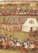unknow artist Cavalry and pikemen assembled at Therouanne in 1513 for the meeting between Henry VIII and the Emperor Maximilian I oil painting picture wholesale