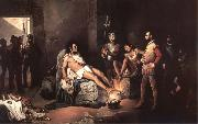 unknow artist The fever of the gold or the interrogations of Coyoacan oil painting picture wholesale