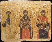 unknow artist The Apostle Phillip and the Saints Theodore and Demetrius oil painting picture wholesale