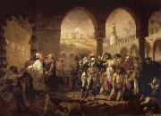 unknow artist Napoleon in the plague house in Jaffa oil painting picture wholesale