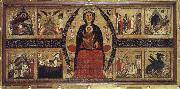 unknow artist The virgin and Child Enthroned,with Scenes of the Nativity and the Lives of the Saints oil painting picture wholesale