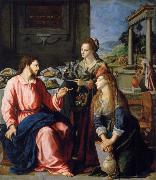 ALLORI Alessandro Museum art historic Christ with Maria and Marta oil painting picture wholesale