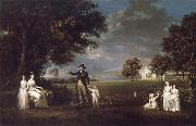 Alexander Nasmyth The Family of Neil 3rd Earl of Rosebery in the grounds of Dalmeny House oil painting artist