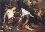 Anthony Van Dyck The funf senses with landscape oil painting picture wholesale