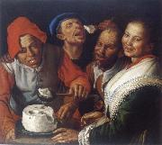 CAMPI, Vincenzo The Ricotta-eaters oil