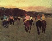 Edgar Degas Race horses in Longchamp oil painting picture wholesale