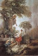 Francois Boucher Landscape with Kirschpfluckerin oil painting picture wholesale