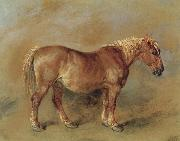 James Ward A Suffolk Punch oil painting artist