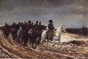 Jean-Louis-Ernest Meissonier Napoleon on the expedition of 1814 oil painting picture wholesale