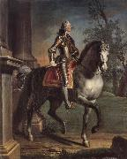 Joseph Highmore Equestrian portrait of King George II oil painting artist