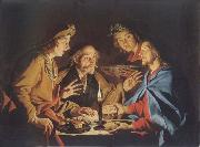 Matthias Stomer Christ in Emmaus oil painting artist