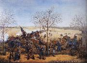Samuel J.Reader The Battle of the Blue October 22.1864 oil painting picture wholesale