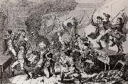 Thomas Pakenham Rebels dancing the Carmagnolle in a captured house by cruikshank oil painting picture wholesale