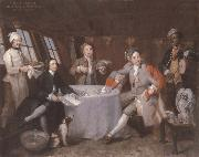 William Hogarth Museum nationally maritime Portrat the lord George Graham in its Kajute oil painting picture wholesale