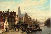 unknow artist European city landscape, street landsacpe, construction, frontstore, building and architecture.015 oil painting picture wholesale