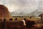 Alfred Jacob Miller Buffalo Hunt oil painting