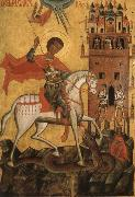 Anonymous The Miracle of St George and the Dragon oil painting picture wholesale