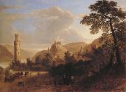 Asher Brown Durand Oberwesel on the Rhine oil painting reproduction