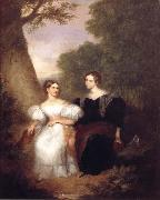 Asher Brown Durand Portrait of the Artist-s Wife and her sister oil painting picture wholesale