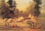 Conrad Wise Chapman Confederate Camp at Corinth oil painting artist