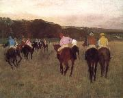 Edgar Degas Racehorse ground oil painting reproduction