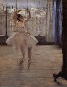 Edgar Degas Dancer in ther front of Photographer oil painting picture wholesale