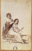 Francisco Goya Maid combing a  Young Woman-s Hair oil painting picture wholesale