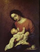 Francisco de Zurbaran The Virgin Mary and Christ oil painting picture wholesale