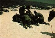 Frederic Remington Hungry Moon oil painting picture wholesale