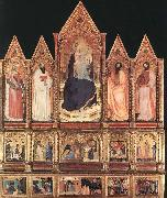 GIOVANNI DA MILANO Polyptych with Madonna and Saints oil painting picture wholesale