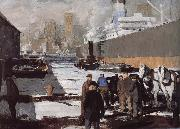 George Wesley Bellows Docker oil painting picture wholesale