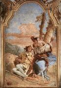 Giovanni Battista Tiepolo Angelica Carving Medoro's Name on a Tree oil painting picture wholesale
