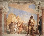 Giovanni Battista Tiepolo Eurybates and Talthybios Lead Briseis to Agamemmon oil painting picture wholesale