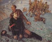 Kuzma Petrov-Vodkin Death of the Commissar oil painting artist