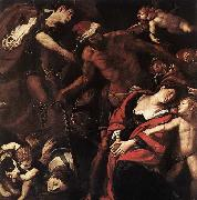 MORAZZONE Piedmont Martyrdom of Sts Seconda and Rufina oil painting artist