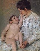 Mary Cassatt Baby-s touching oil painting picture wholesale