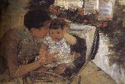 Mary Cassatt Susan is take care of the kid oil painting picture wholesale