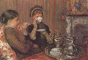 Mary Cassatt Afternoon tea oil painting picture wholesale